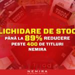 Lichidare de stoc – carti cu pana la 89% reducere