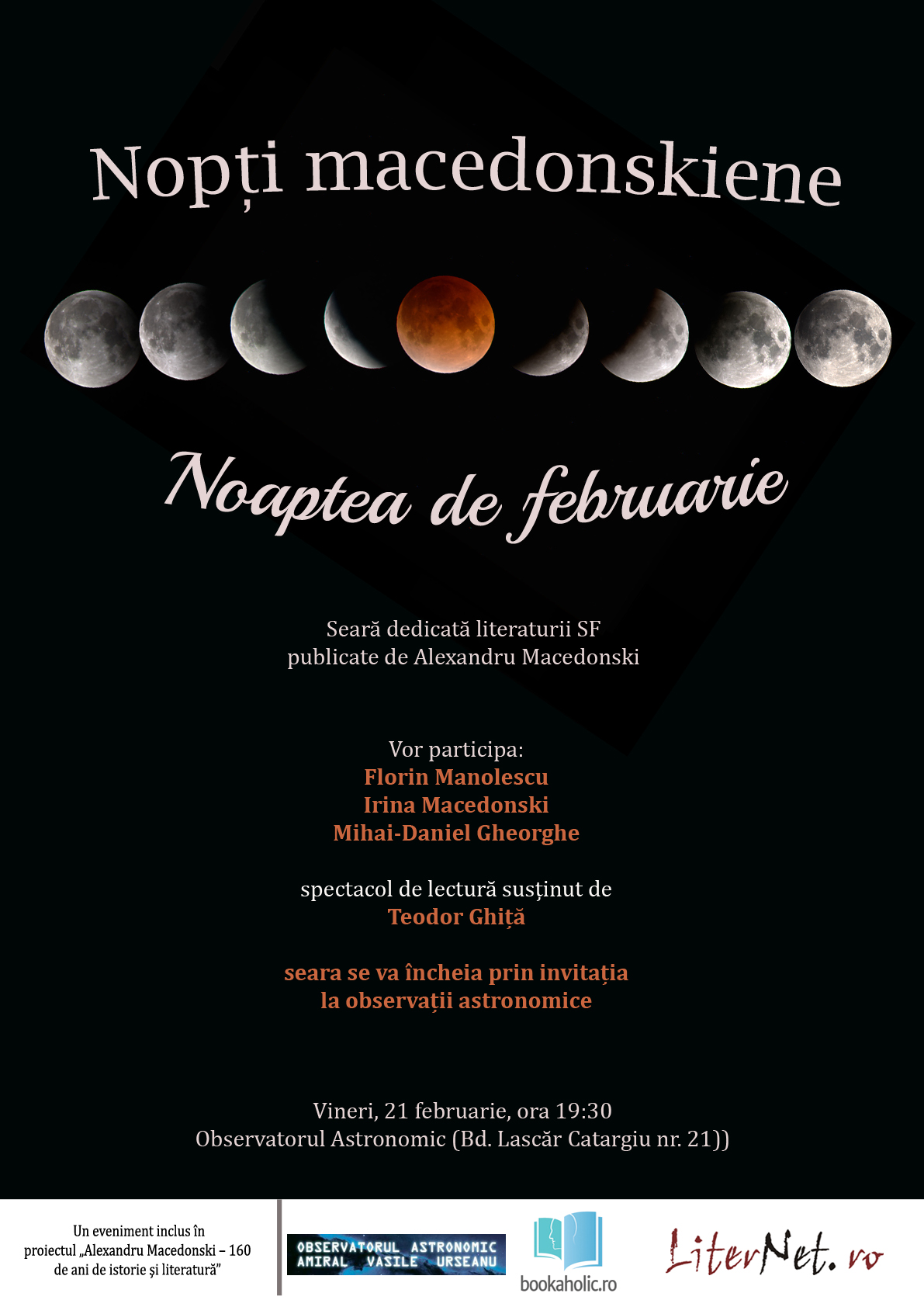 A doua ediţie a Nopţilor macedonskiene, dedicată literaturii SF – Noaptea de februarie la Observatorul Astronomic