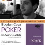 Poker. Black Glass de Bogdan Cosa – Lectura publica la Brasov