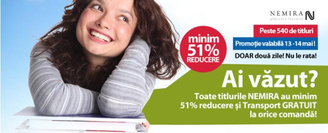 13-14 mai – Reducere Nemira 51%-91%