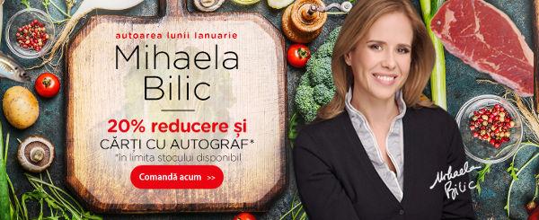 Mihaela Bilic, autoarea lunii ianuarie. Carti cu autograf + 20% reducere!